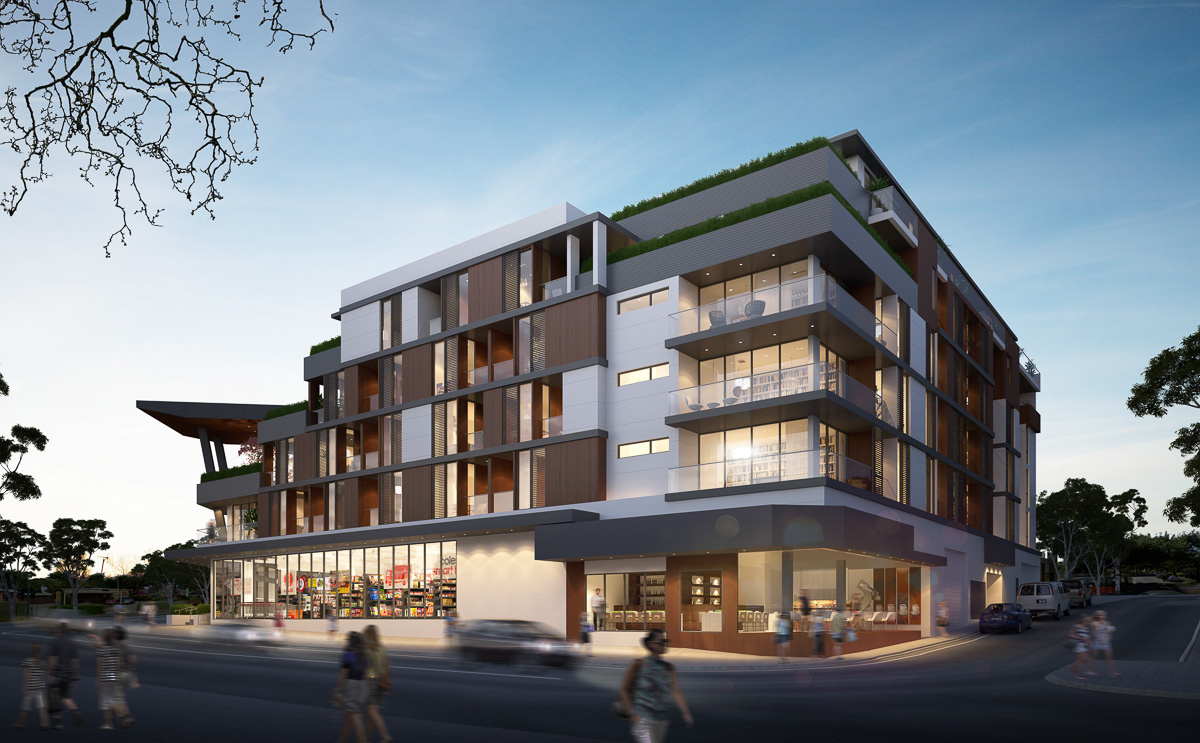 Atomic3d springvale 3d architectural visualization for Exterior standalone retail